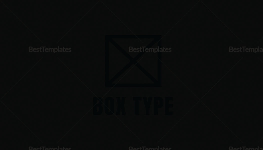 Black Business Card Design Template