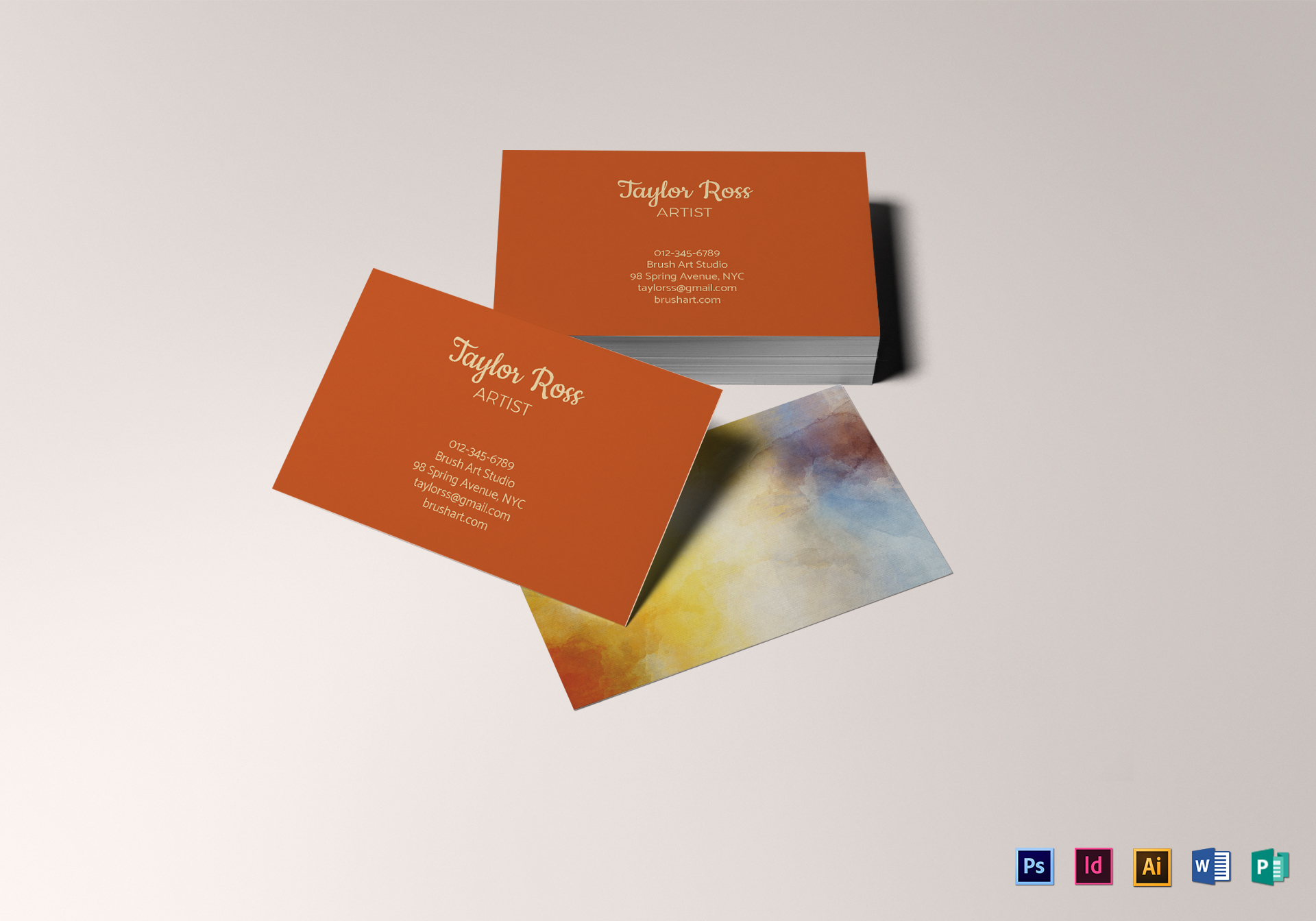 Artist Business Card Design Template In Psd Word Publisher