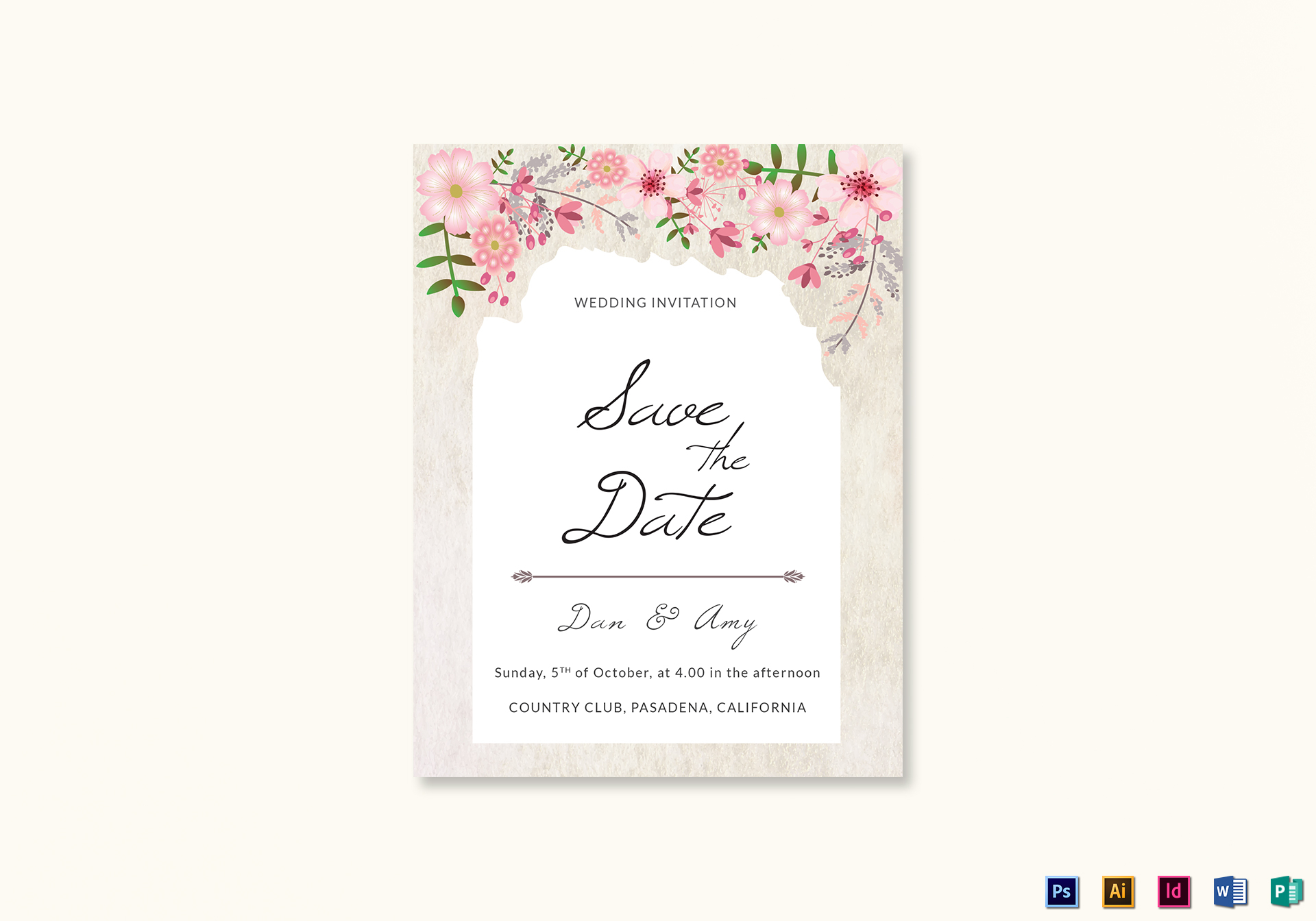 publisher save the date templates pink floral save the date card design template in psd