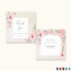 Pink Floral Thank You Card Template