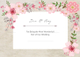 Pink Floral Thank You Card Template 2