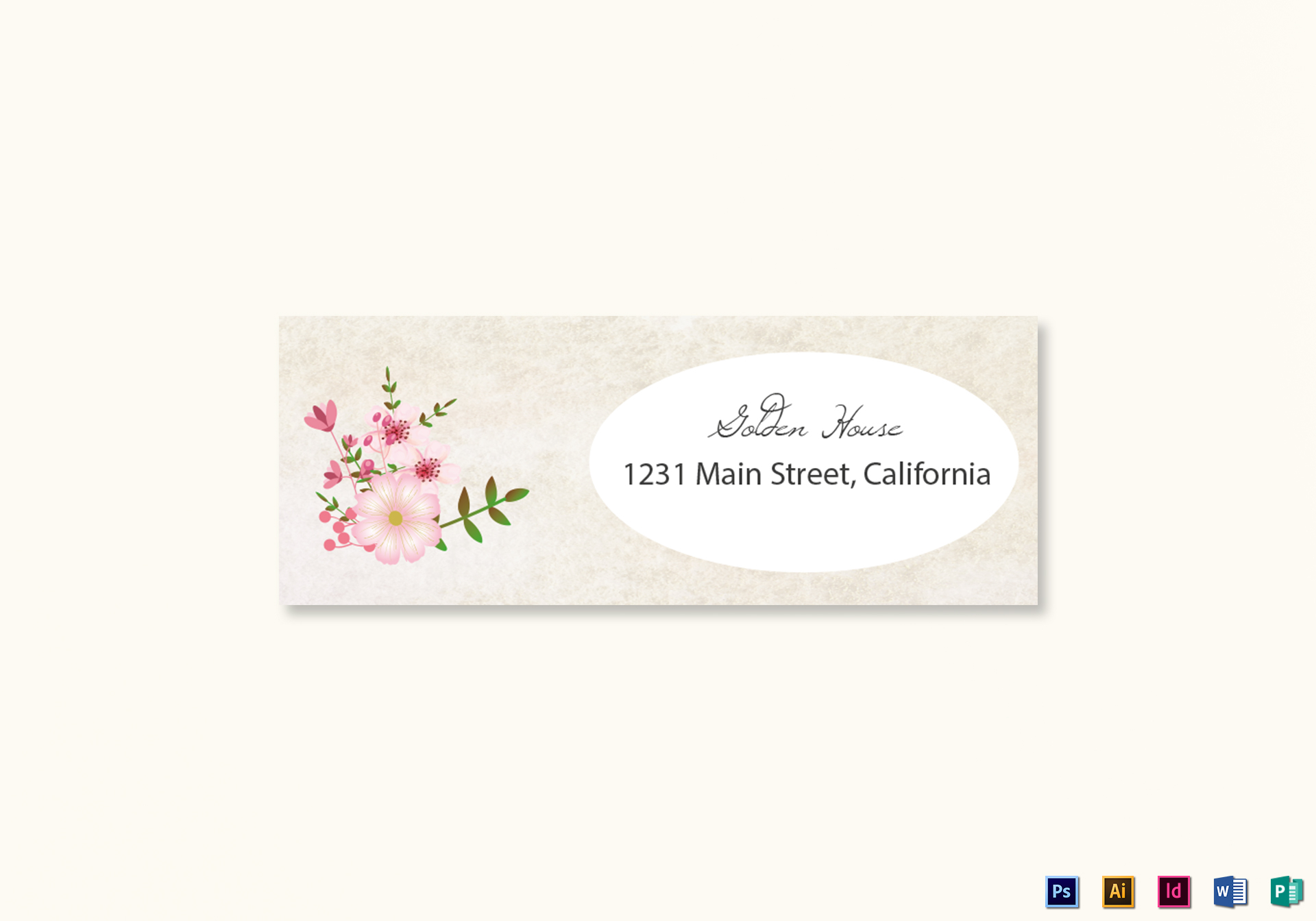 pink floral wedding address labels card design template in. Black Bedroom Furniture Sets. Home Design Ideas