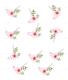 Pink Floral Wedding Envelope Card Design Template