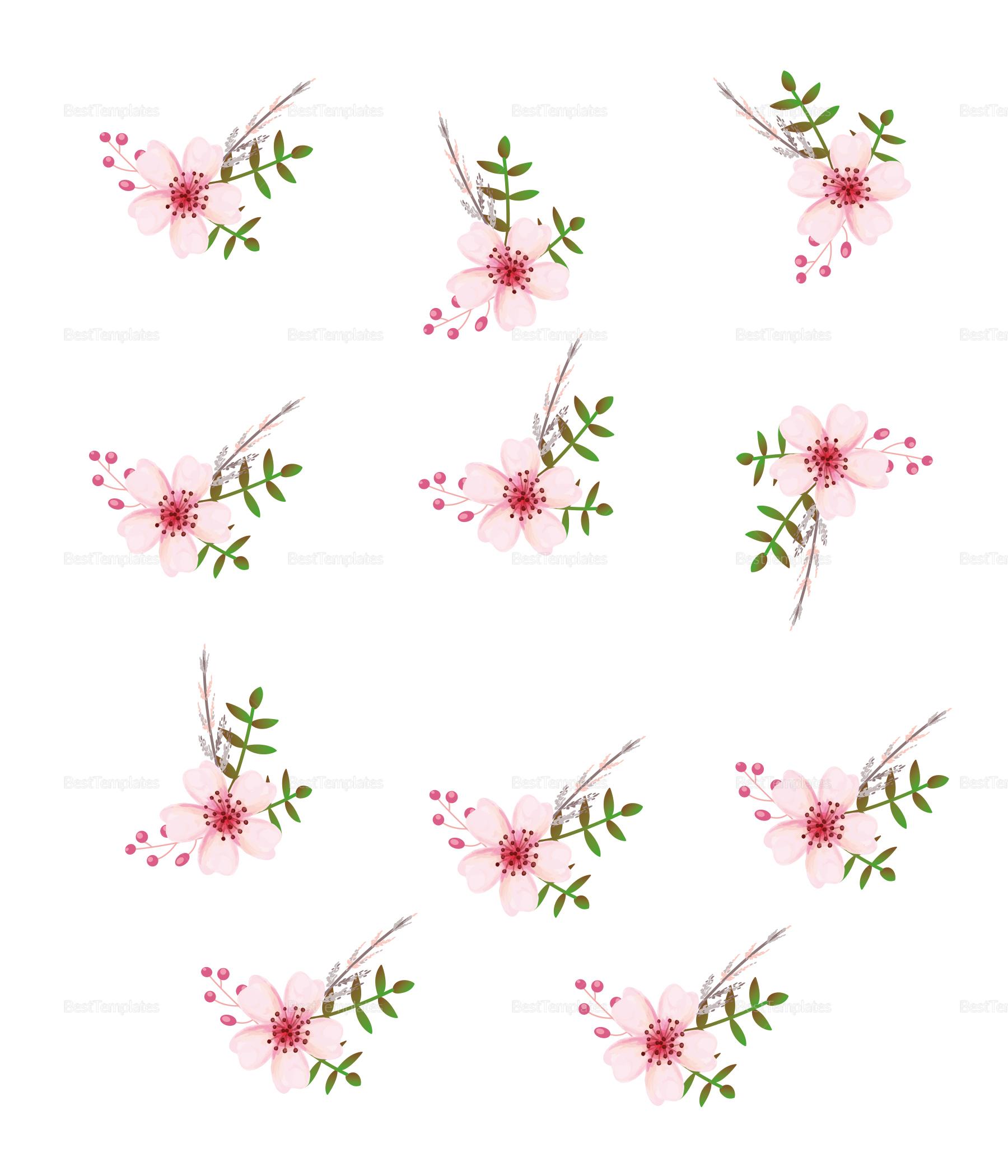 pink floral wedding envelope card design template in psd word