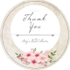 Pink Floral Wedding Label Template