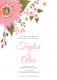 Floral Wedding Invitation Card Design Template