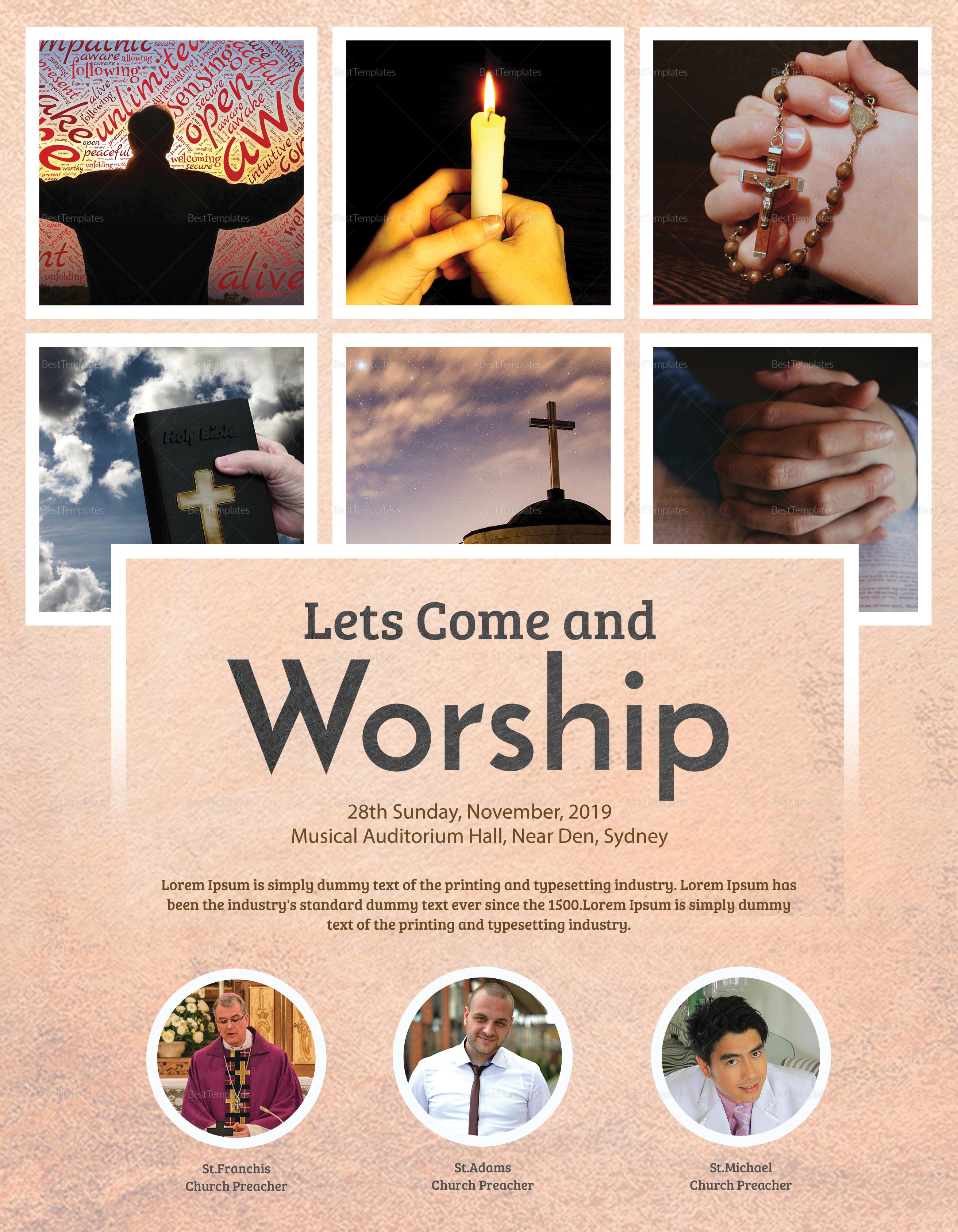 Holy Church Flyer Template