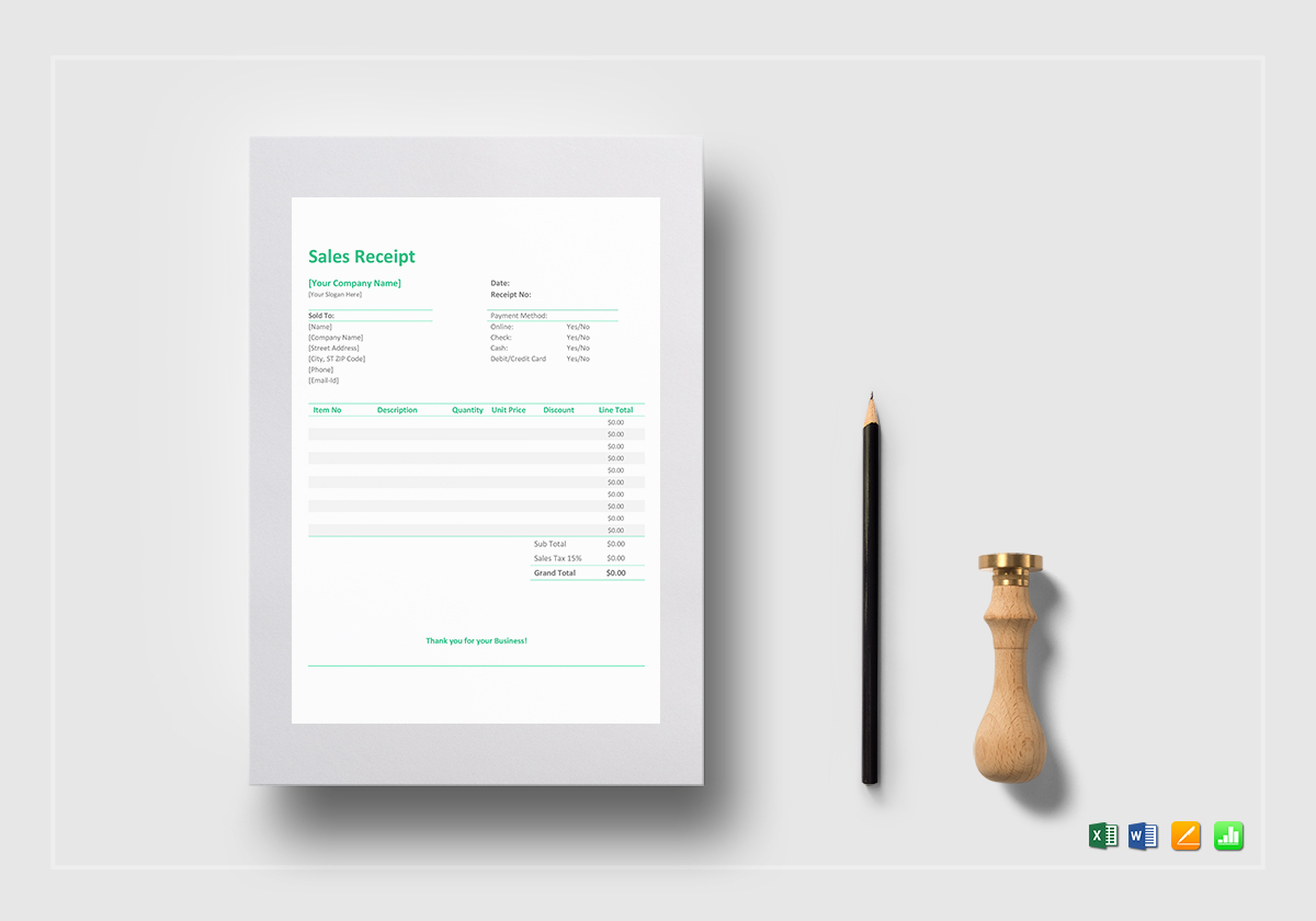 sales receipt template in word excel apple pages numbers