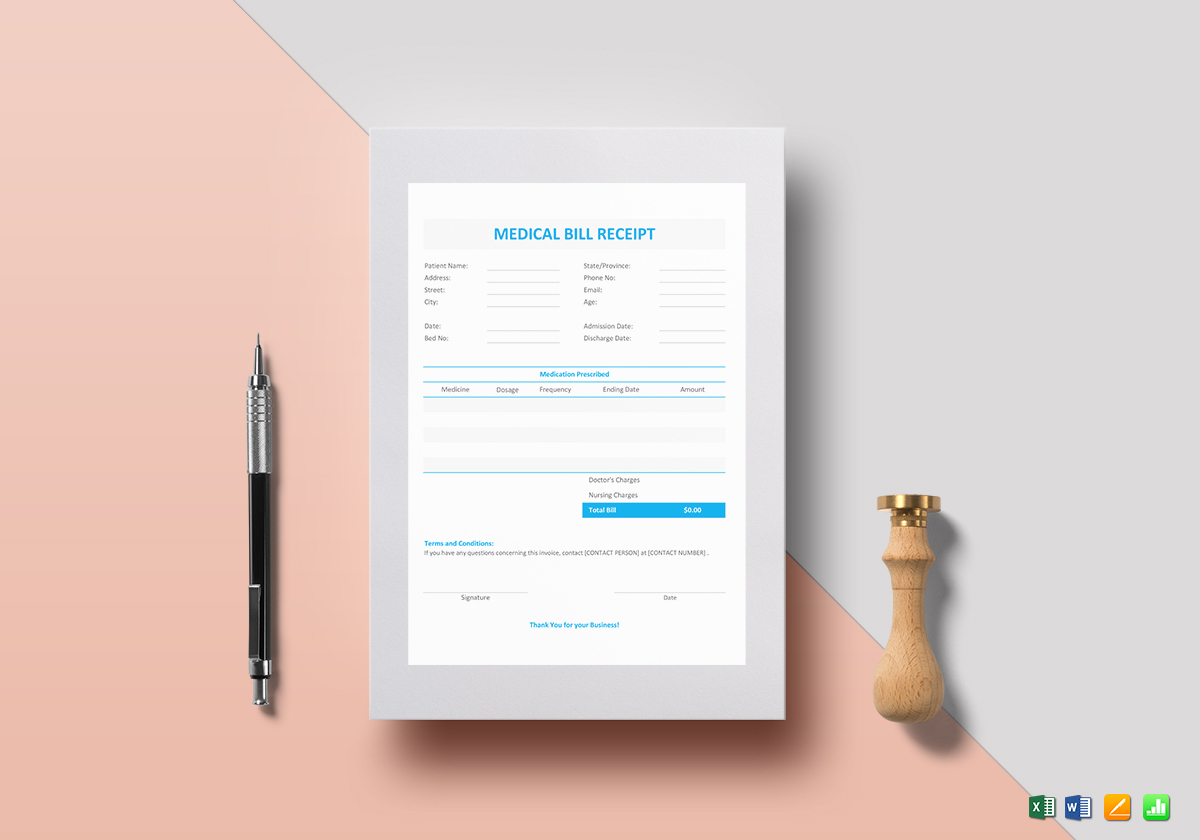 Medical Bill Receipt Template  Bill Receipt