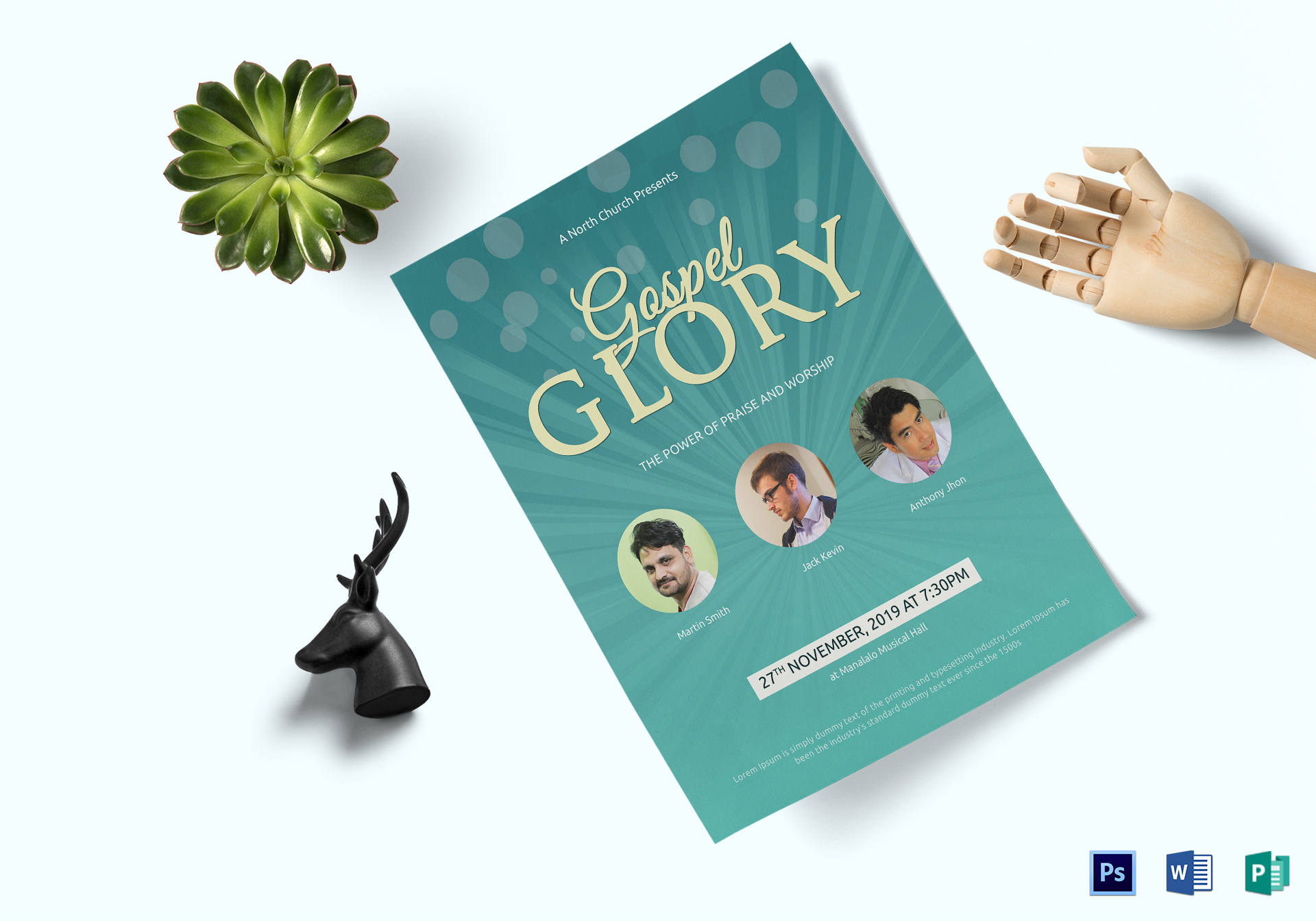 Traditional Church Flyer Template
