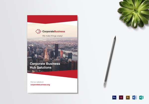 bi fold corporate business brochure 600x420