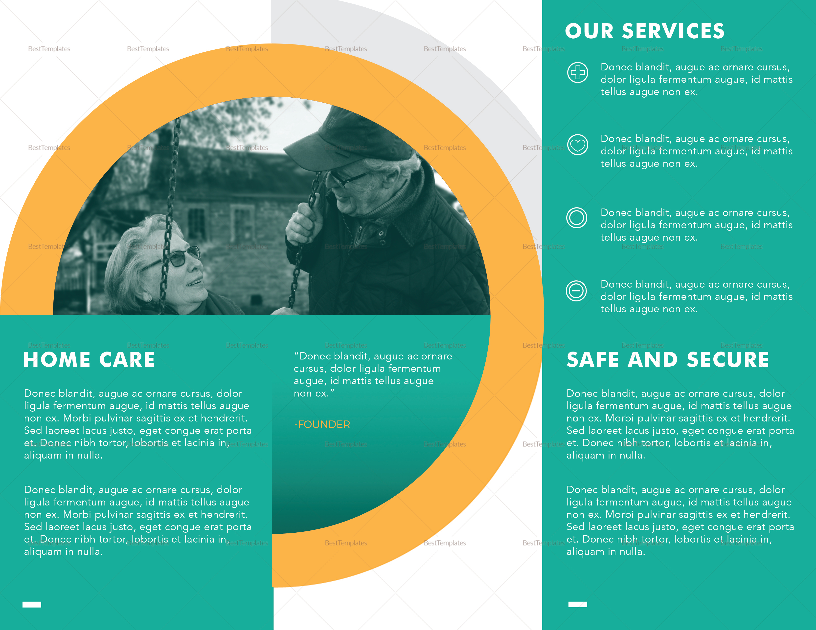 Home Care Brochure Template