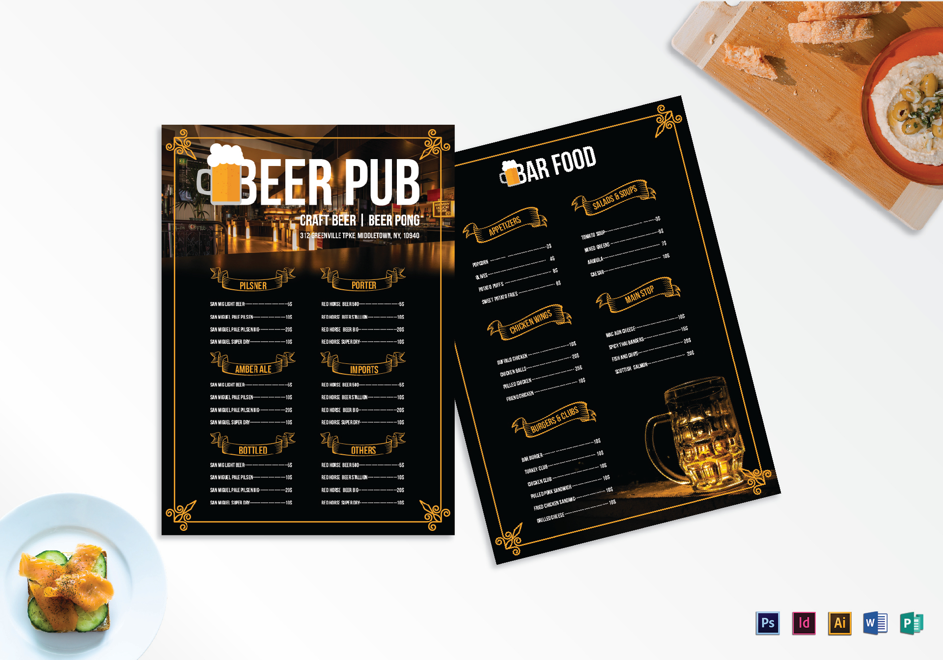 pub menu template ideal vistalist co