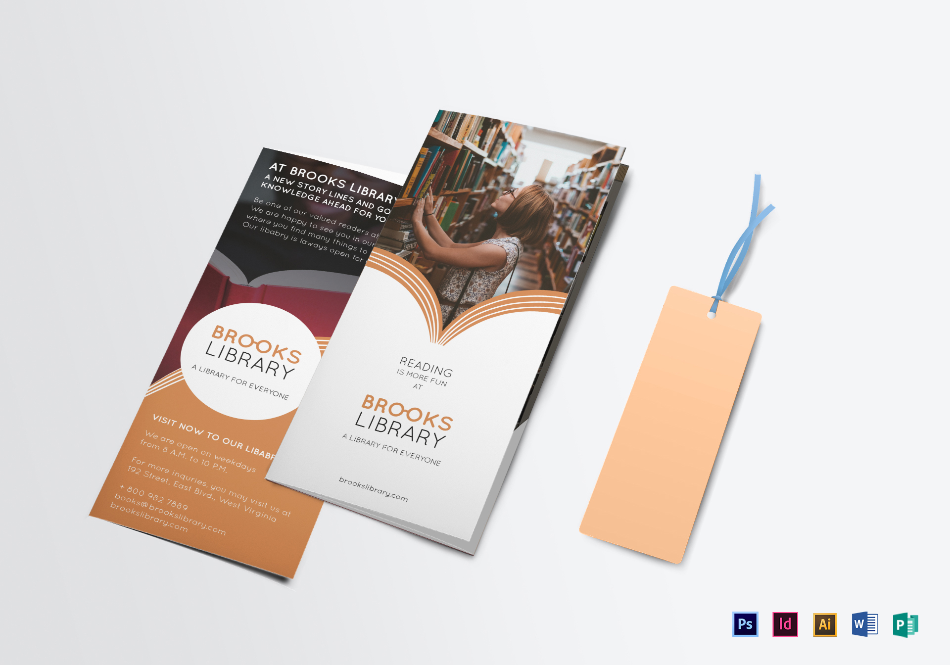 Library Brochure Design Template