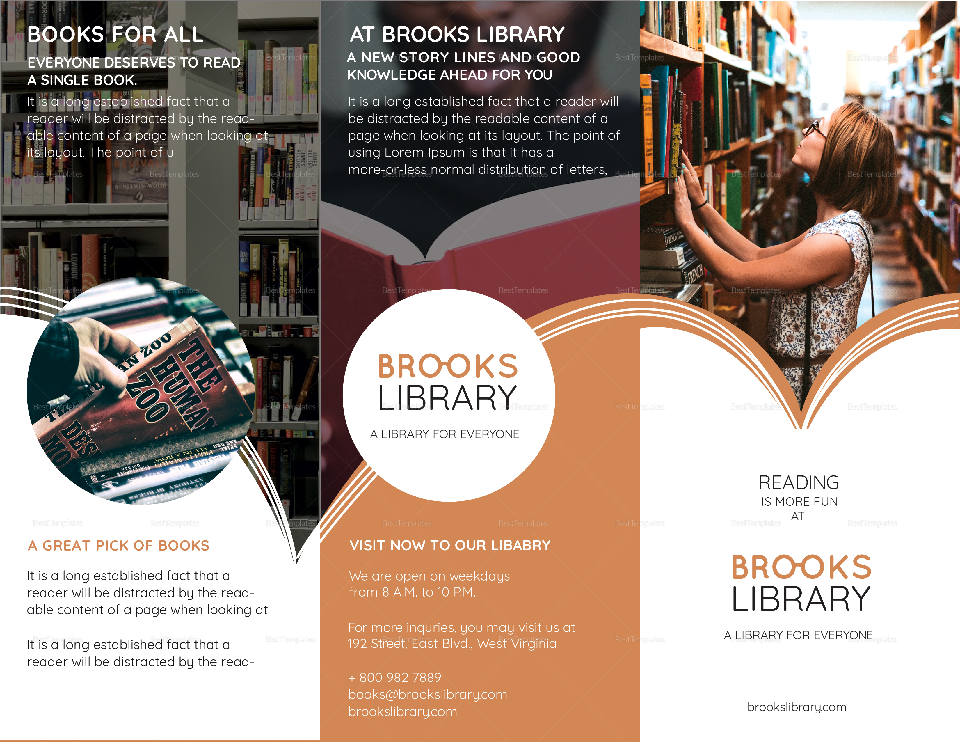 Library Brochure Template