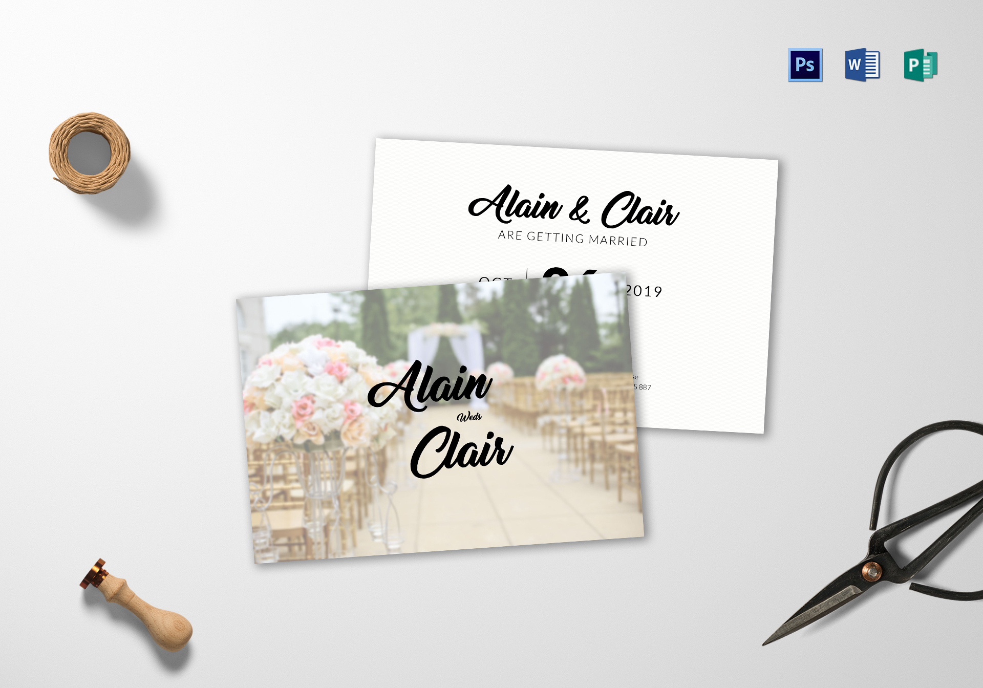 Stylish Wedding Invitation Card Template