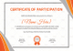Wrestling Participation Certificate Design Template