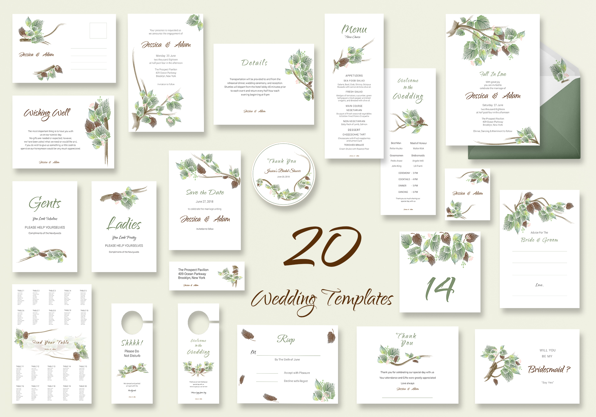 Fall Wedding Templates