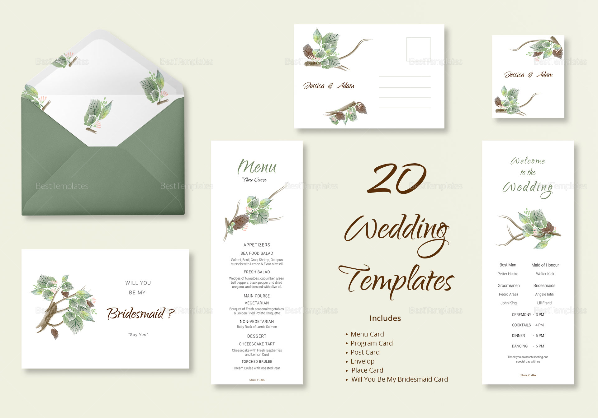 Fall Wedding Template