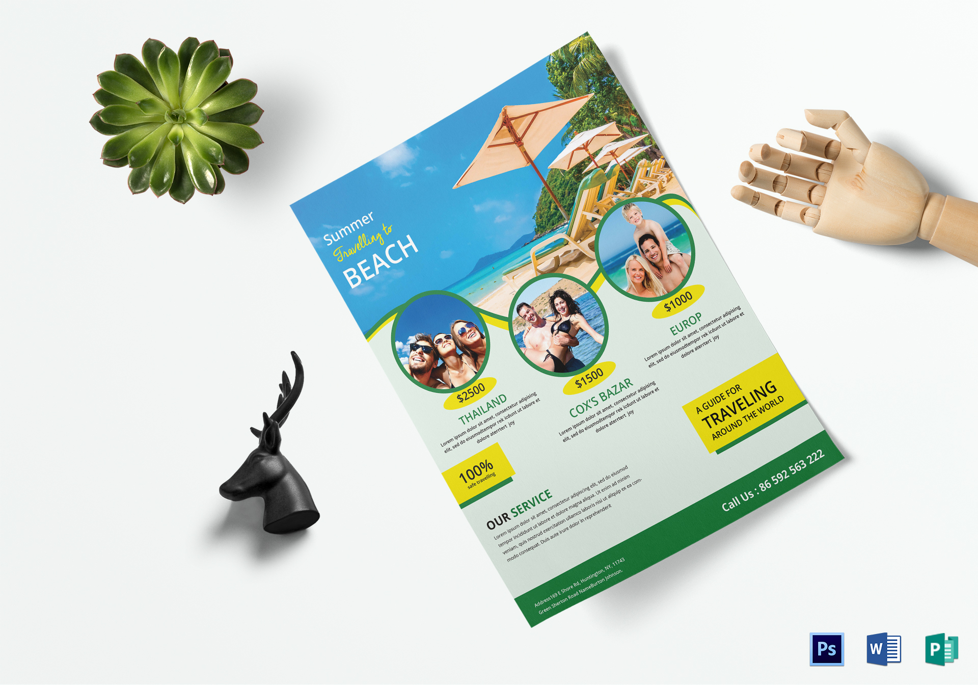 Travel Flyer Design Template In Word Psd Publisher
