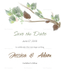 Fall Floral Save the Date Card