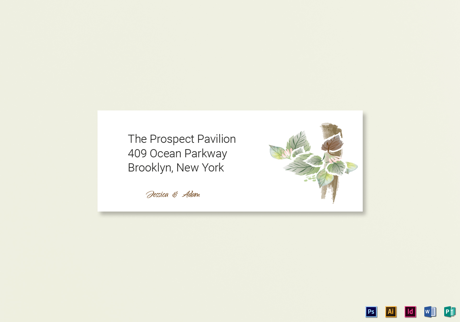 Fall Wedding Address Labels Card Template In Psd Word Publisher