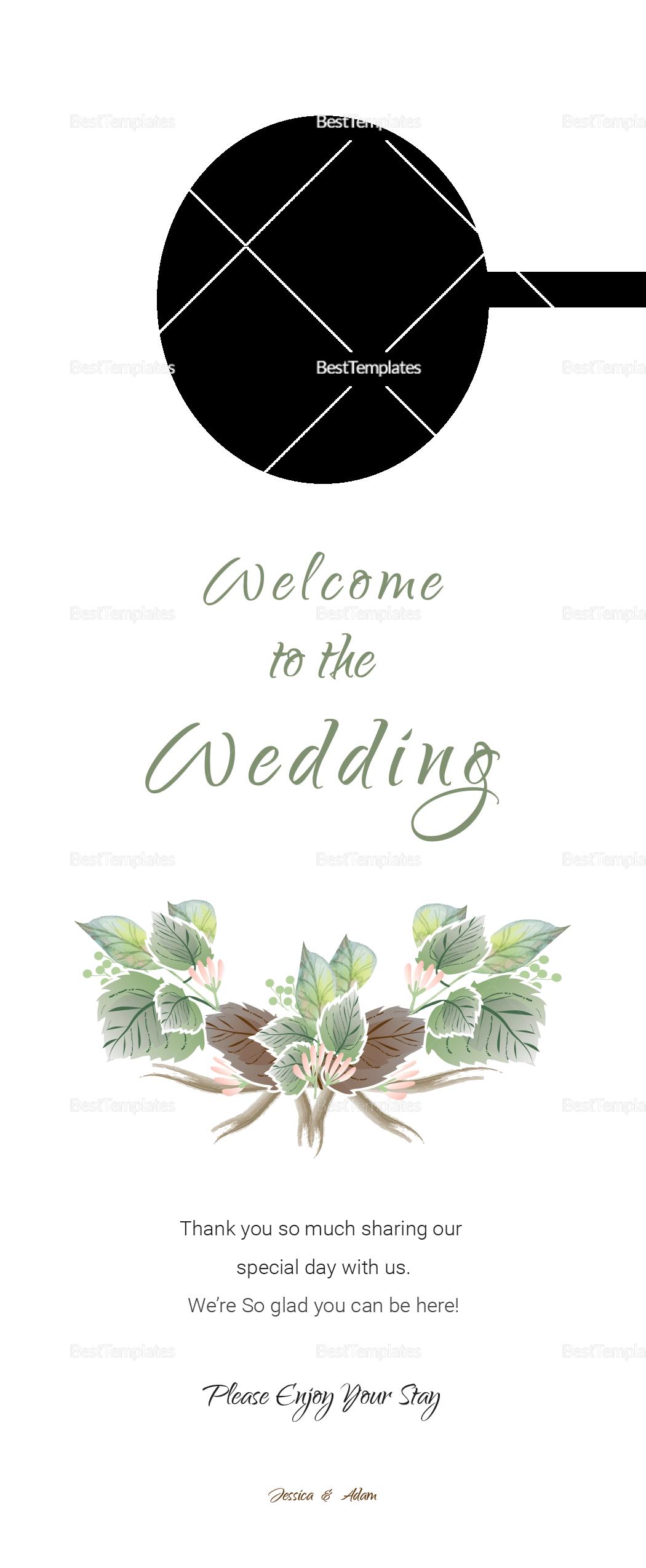 Fall Floral Wedding Door Hanger