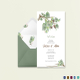 Fall Floral Wedding Invitation Card Template