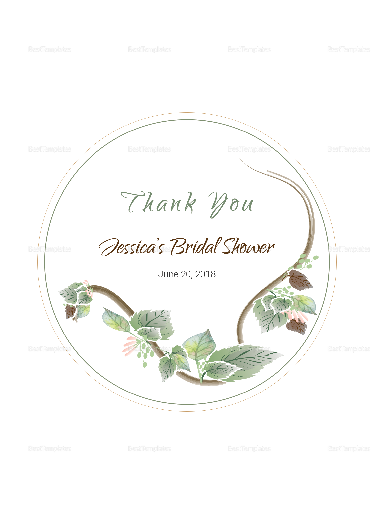 Fall Floral Wedding Label