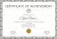 Tennis Achievement Certificate Design Template