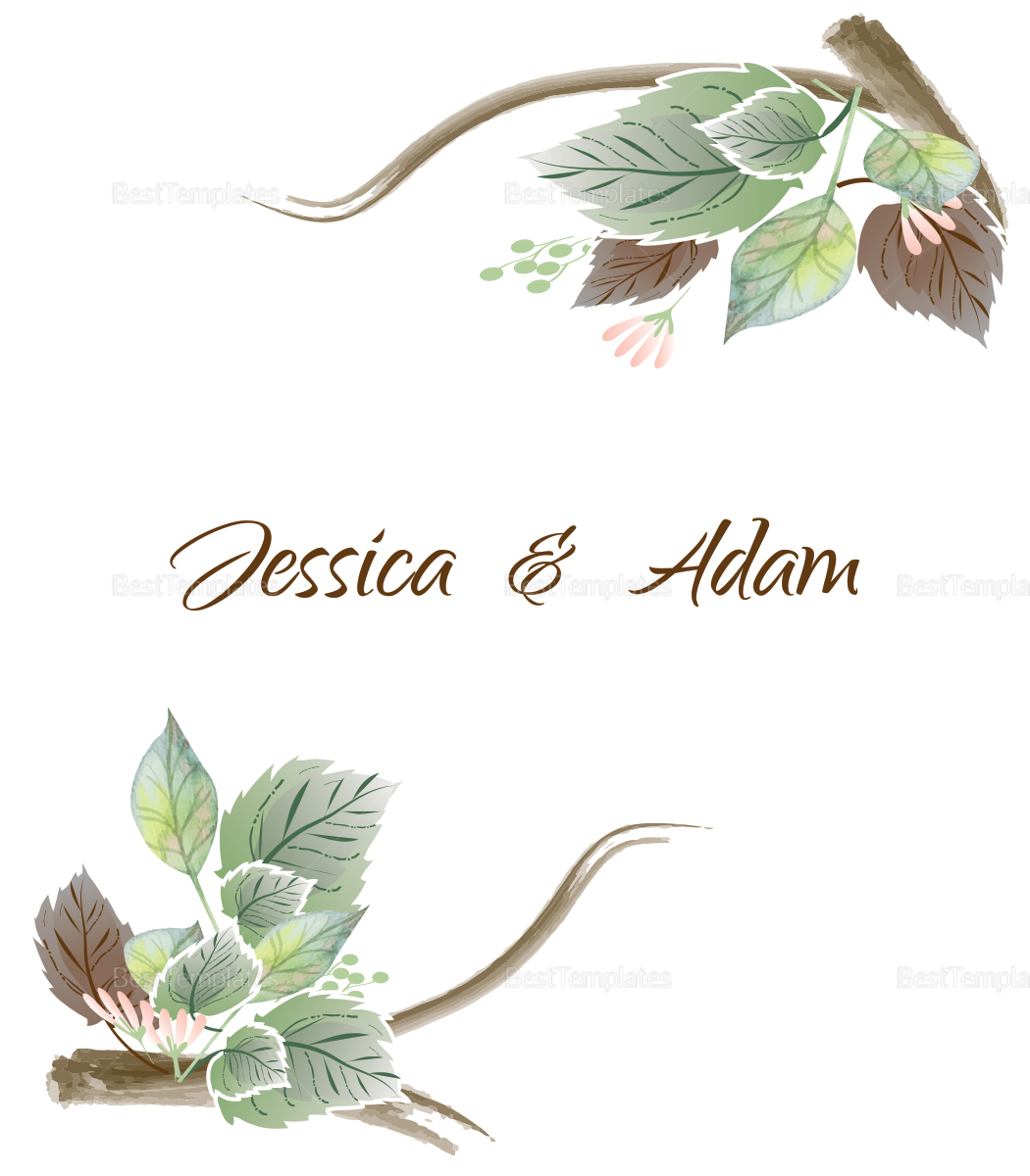 Fall Floral Wedding Place card