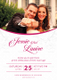 Pink Wedding Invitation Card Design Template