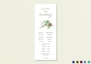 /2583/Wedding-Program-card