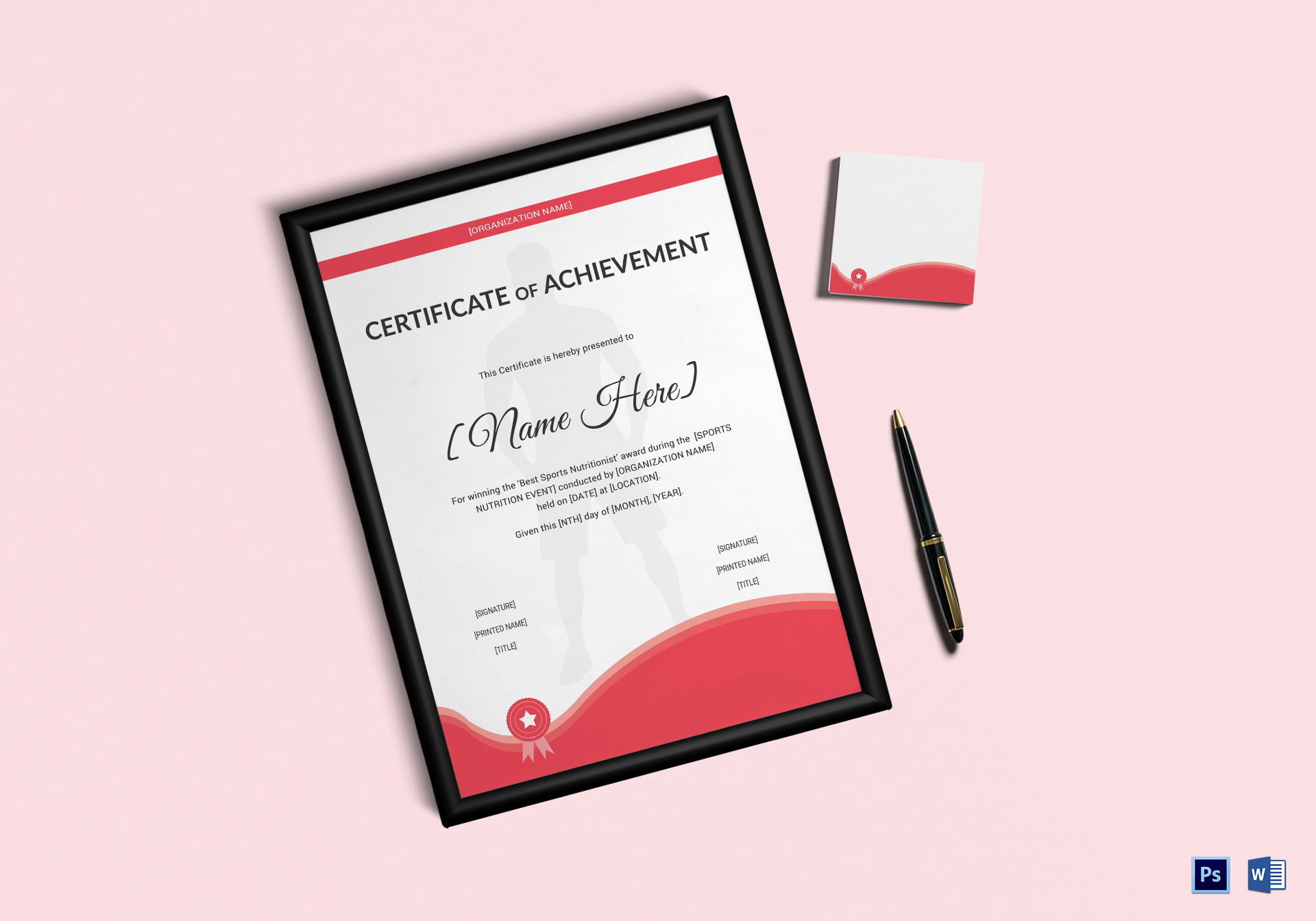 Sports Nutrition Achievement Certificate Template
