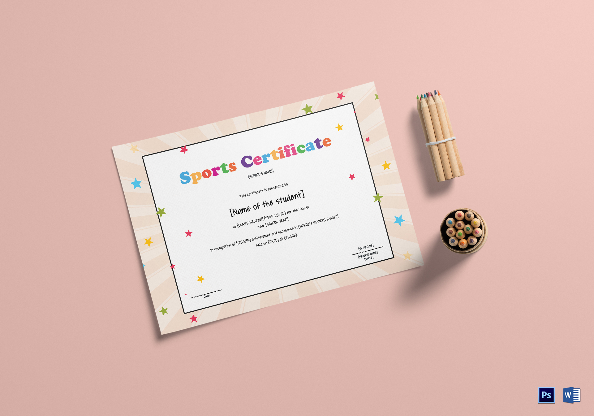 Kids Sports Certificate Template