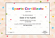 Kids Sports Certificate Design Template