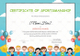 Kids Sportsmanship Certificate Template
