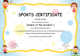 Kids Sports Participation Certificate Template