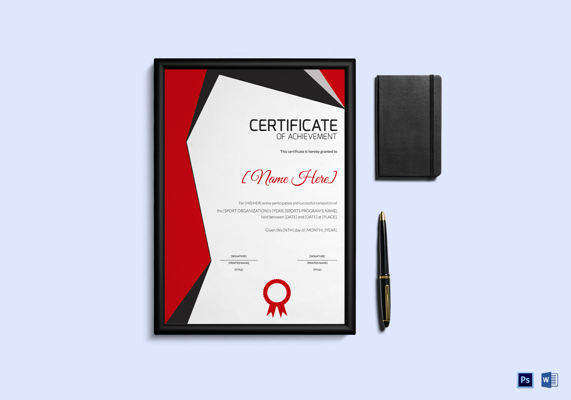 Sports Achievement Award Certificate Template