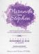 Watercolor Wedding Invitation Card Design Template