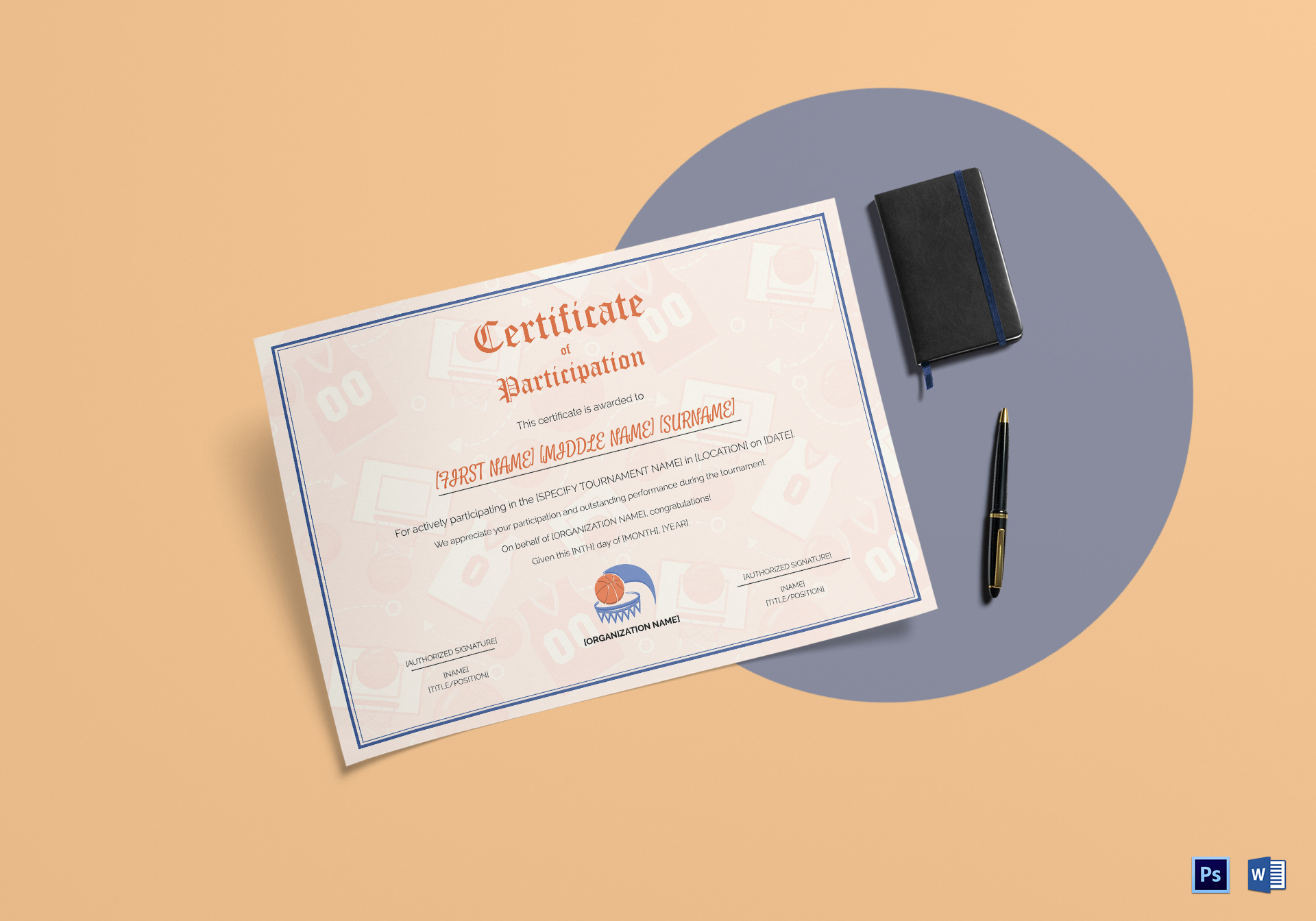 Simple Sports Participation Certificate Template