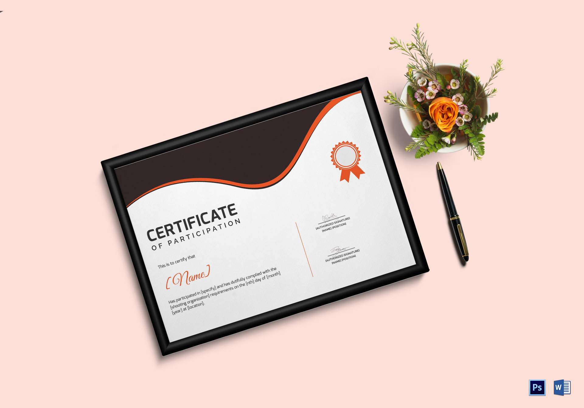 Shooting Participation Certificate Template