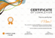 Shooting Completion Certificate Design Template