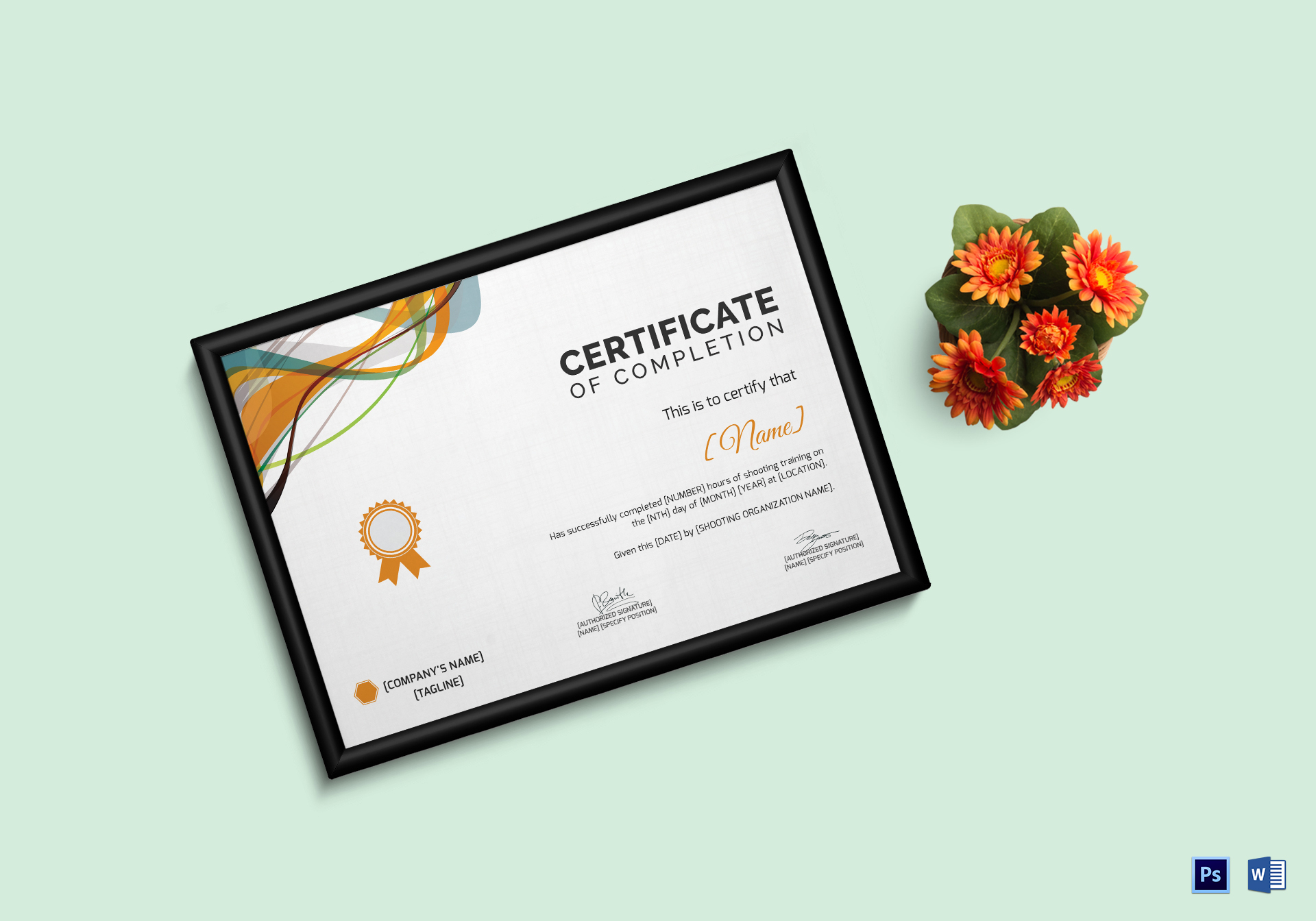 Shooting Completion Certificate Template