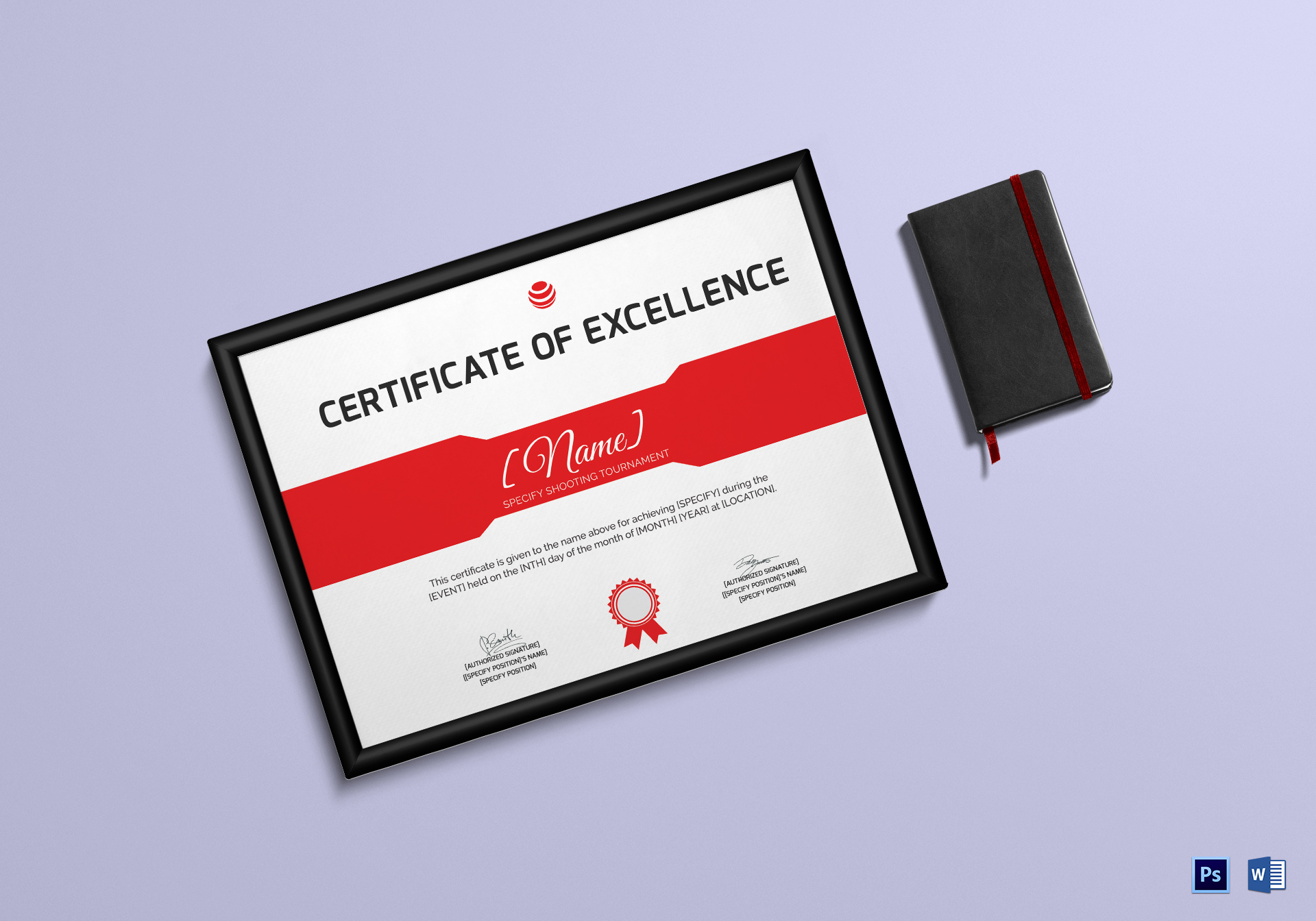 Shooting Excellence Certificate Template
