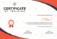 Shooting Training Certificate Design Template