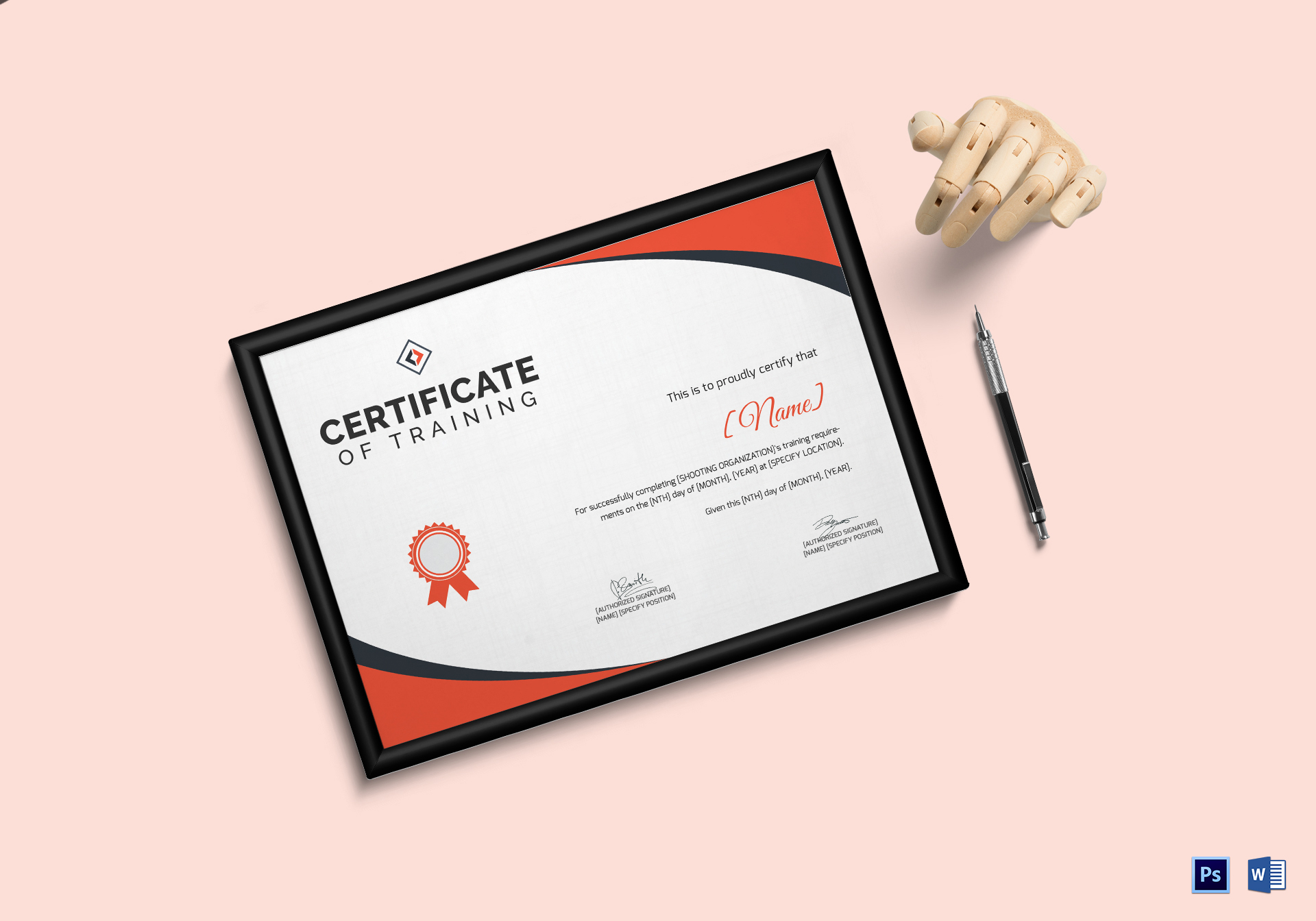 Shooting Training Certificate Template