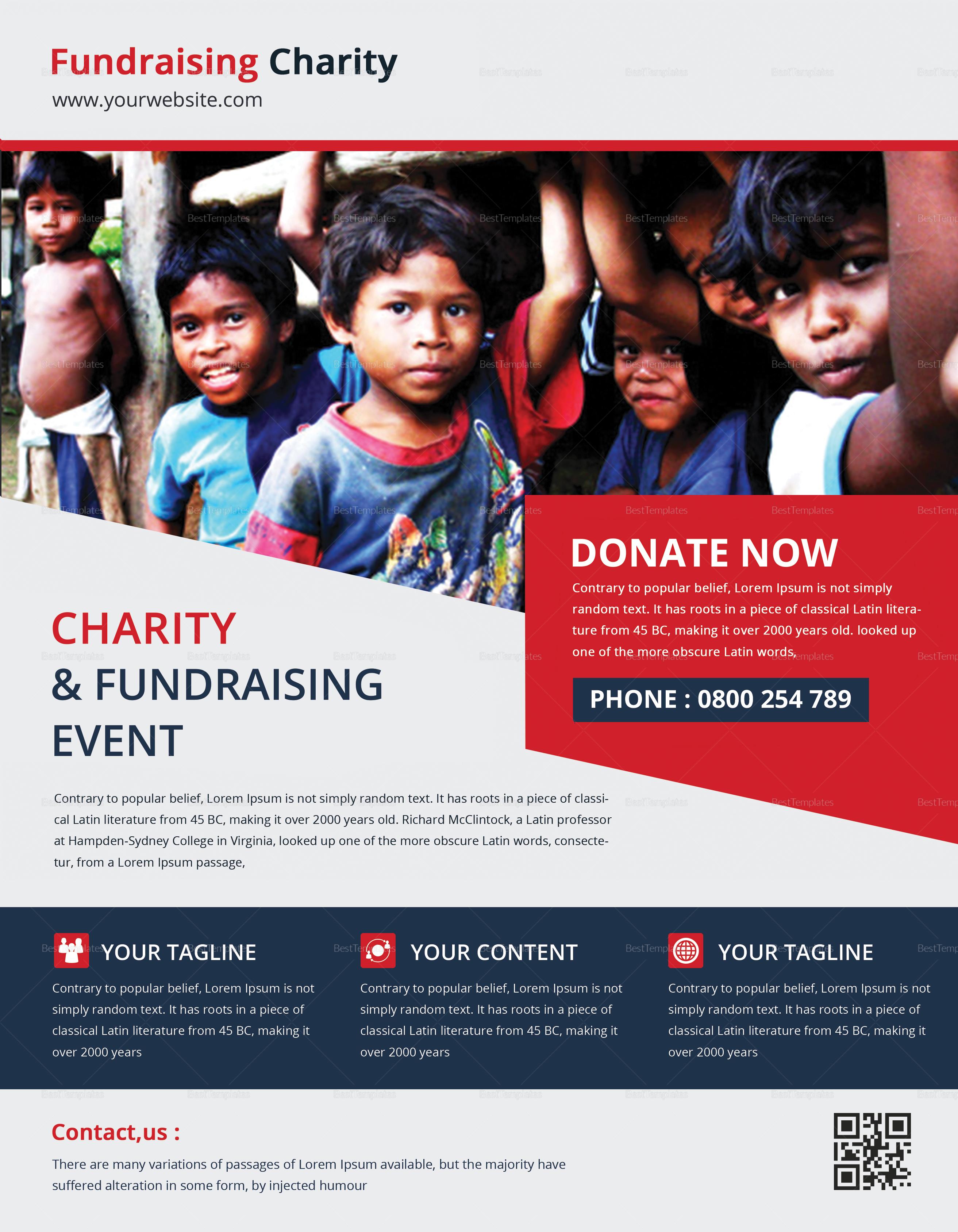 Juvenile Church Fundraiser Flyer Template