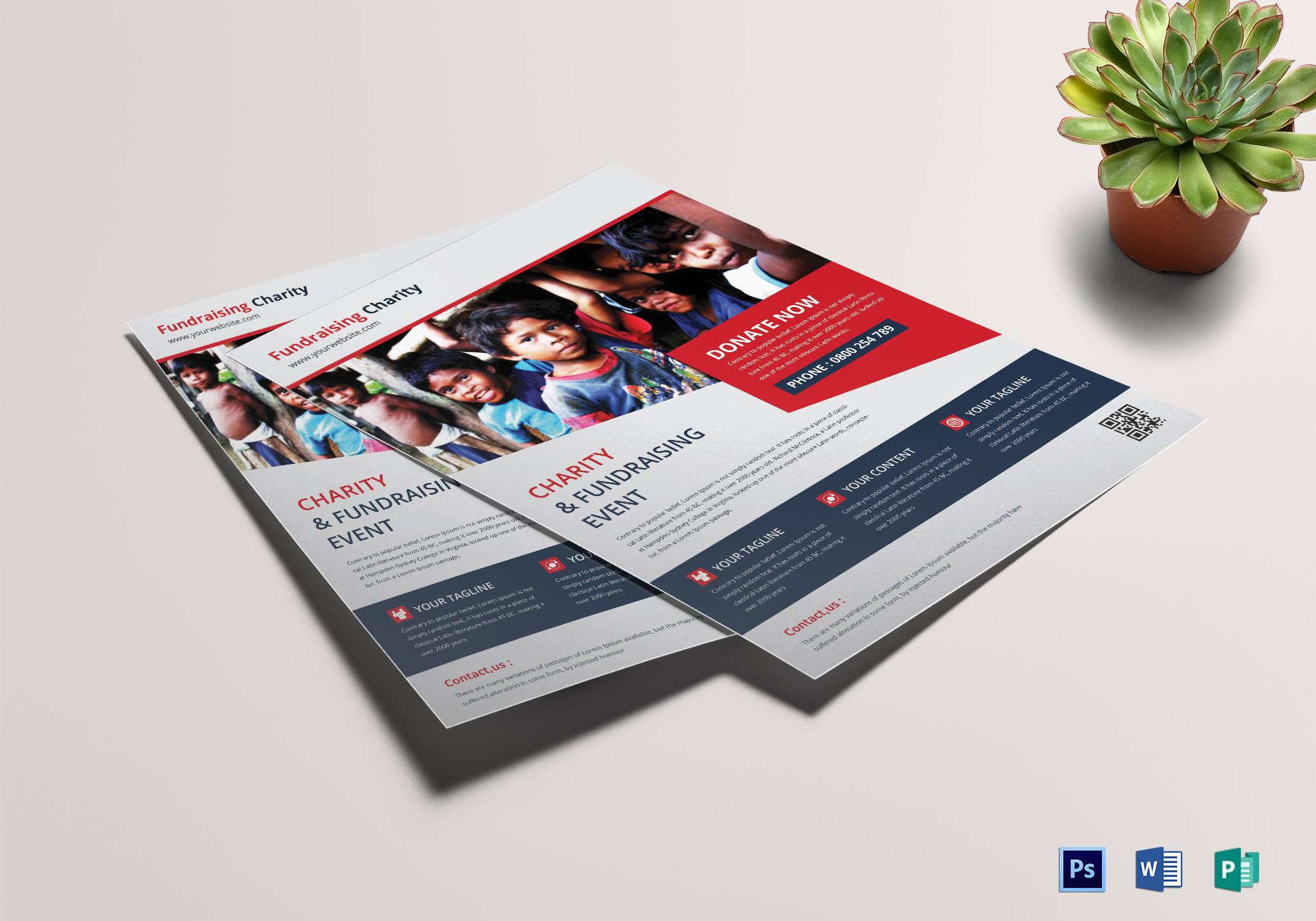 juvenile church fundraiser flyer design template in psd word