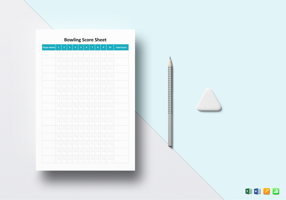Bowling Score Sheet Template